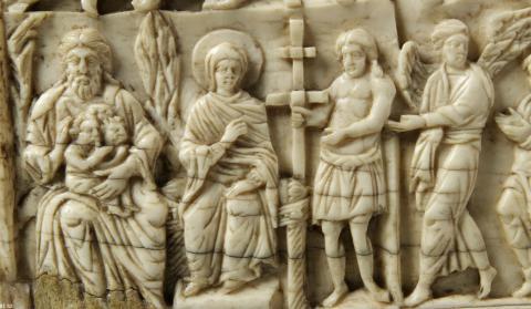 Лоно Авраамово, Богоматерь на престоле, Благоразумный разбойник. Византия. Константинополь; X в.;