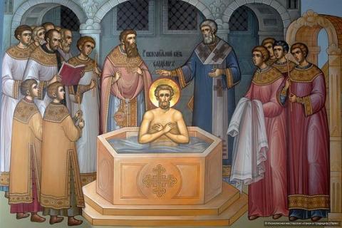 Крещение князя Владимира. Иконописная мастерская «Канон и традиция»