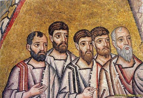 Апостолы. Мозаика монастыря Осиос Лукас. XI в.